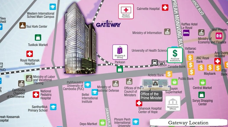 The Gateway phnom penh cambodia location