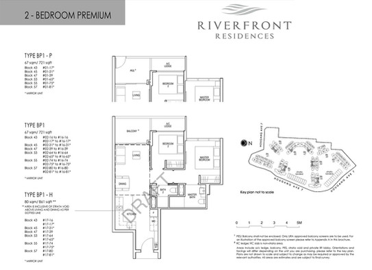 Riverfront Residences 2 Bedroom Premium