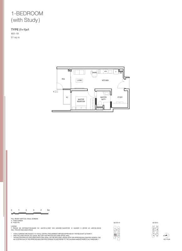 Midwood at Hillview Rise 1 Bedroom Study