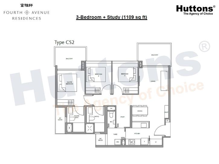 Fourth Avenue Residences - 3+S