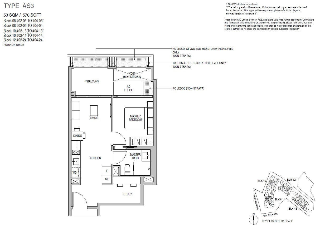 Mayfair Gardens 1 Bedroom Study Type A3