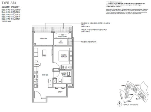 Mayfair Gardens 1 Bedroom Study Type A3