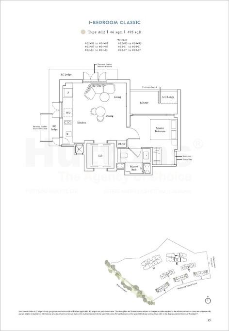1 Bedroom Classic 495sqft