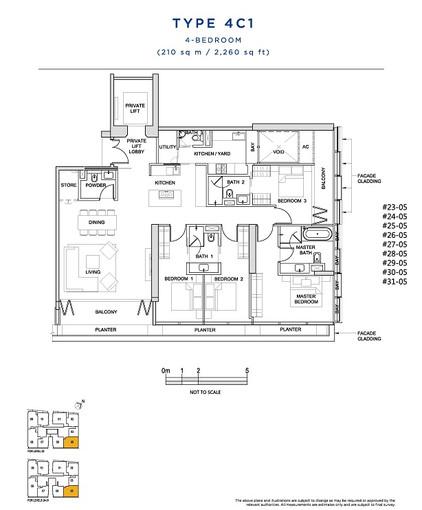 4 Bedroom Type 4C1