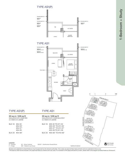 Pasir Ris 8 1-Bedroom + Study