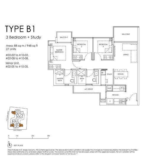 Mont Botanik Residence 3-Bed Type B1