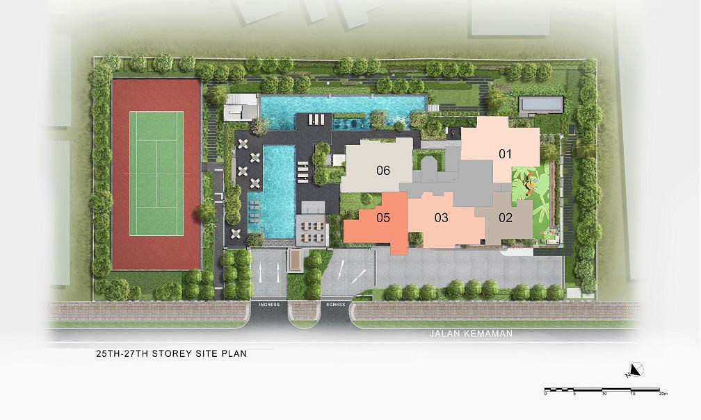 Verticus - Site Plan Level 25-27