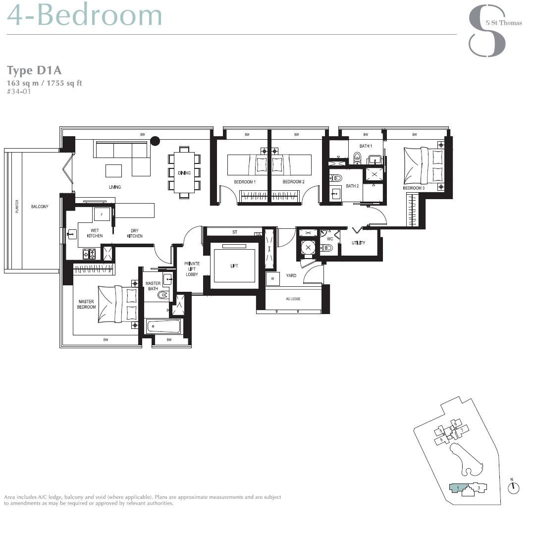 8 St Thomas Brochure 4 Bedroom Type D1A