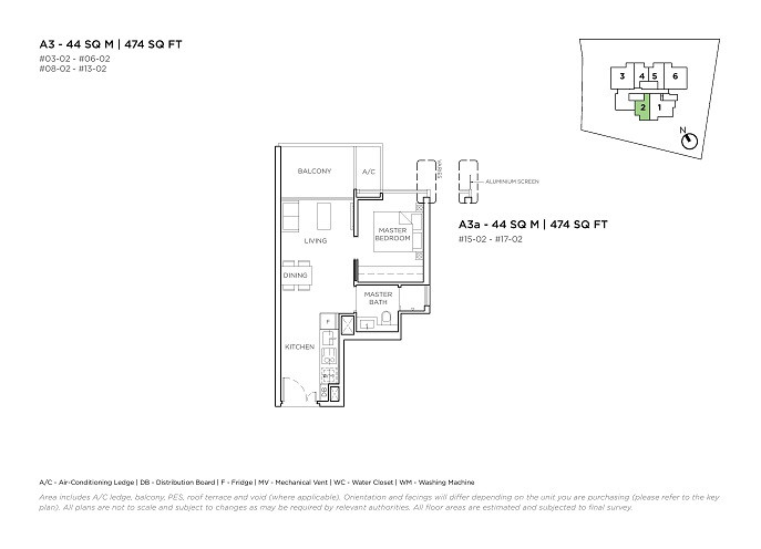 3 Cuscaden 1 Bedroom Type A3