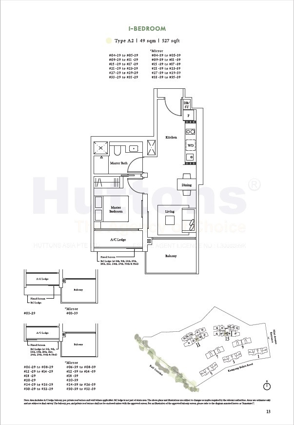 1 Bedroom 527sqft