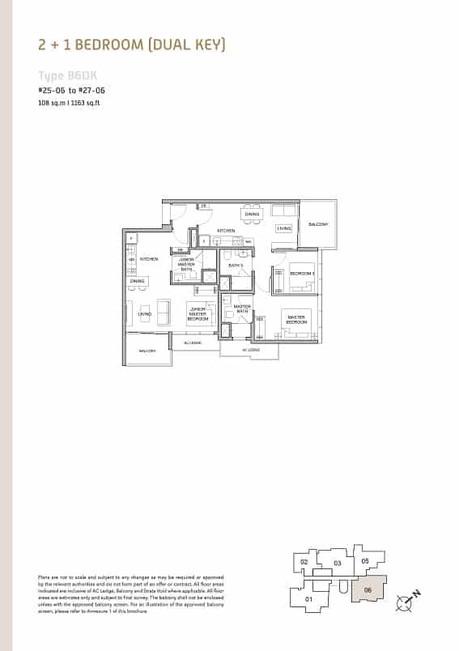 Verticus condo 2+1 Bedroom Dual Key