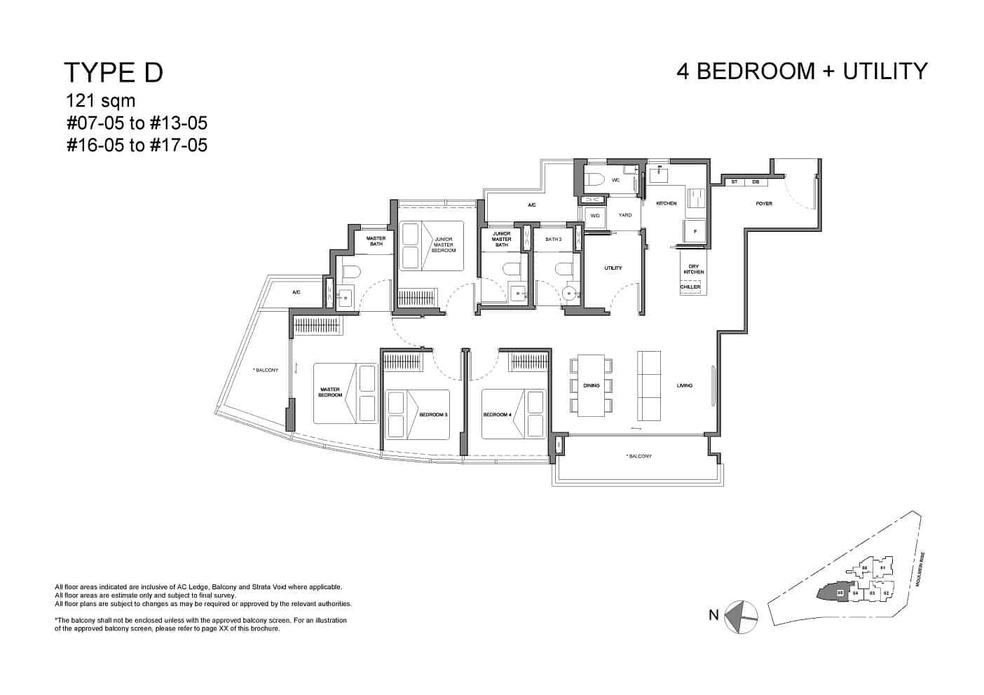 Neu at Novena 4-bedroom utility Type D