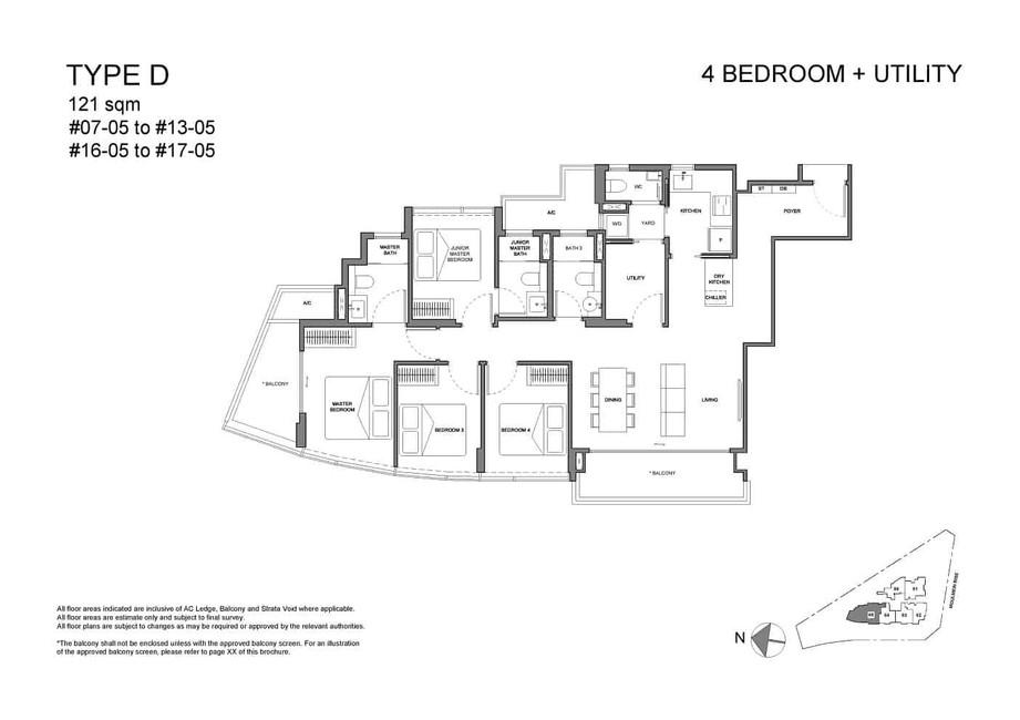Neu at Novena 4-bedroom utility Type D