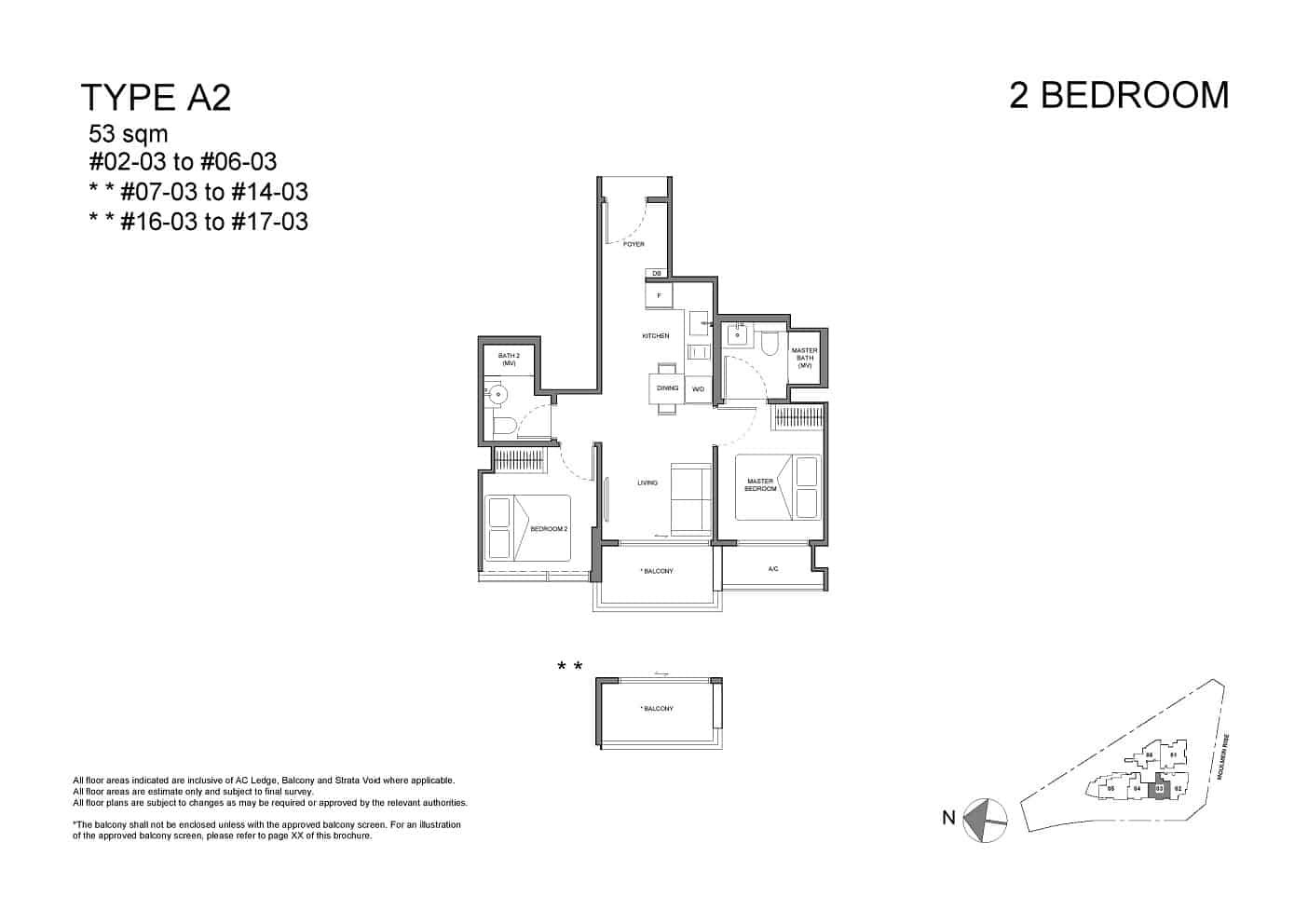 Neu at Novena 2-bedroom type A2