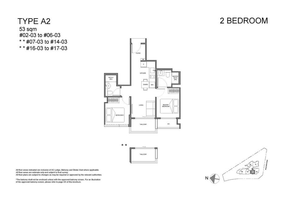 Neu at Novena 2-bedroom type A2