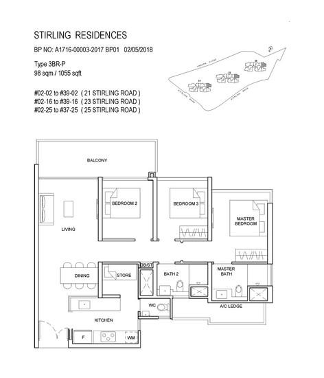 Stirling Residences 3 Bedroom Premium