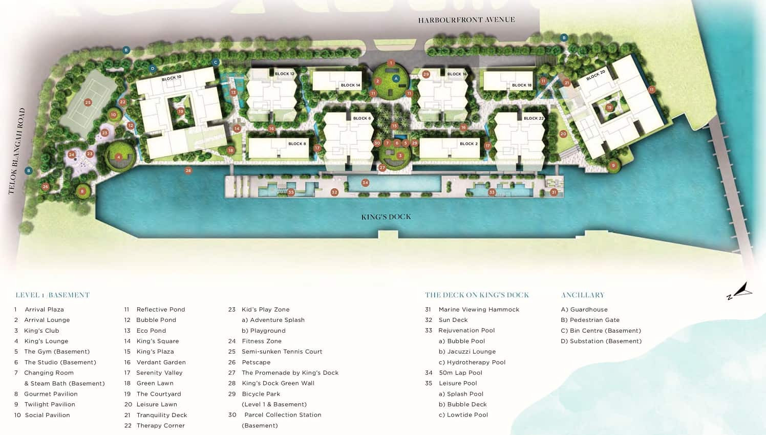The Reef at King s Dock site plan
