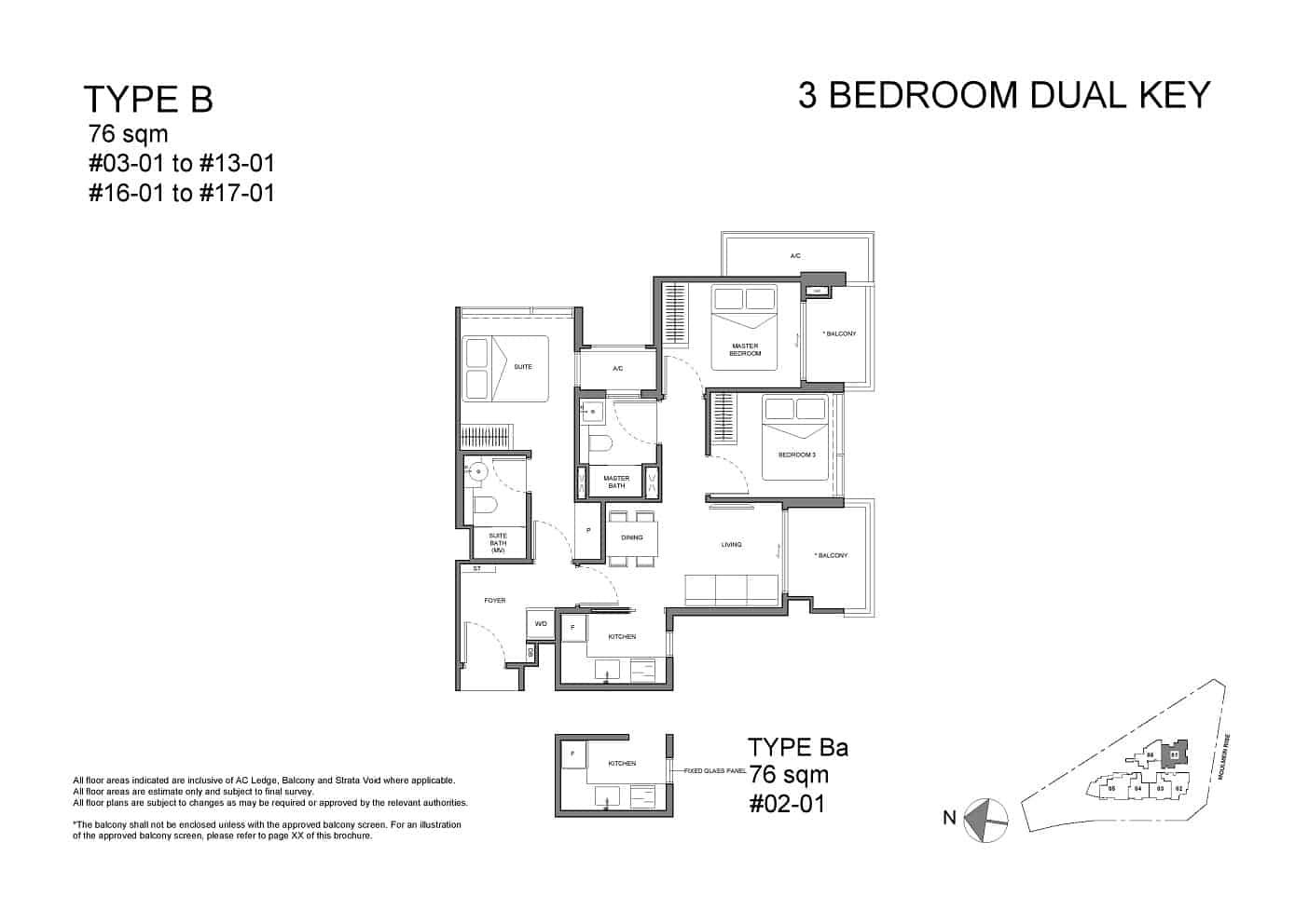 Neu at Novena 3-bedroom dual-key Type B