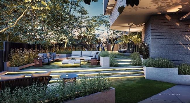 The Iveria cascading garden