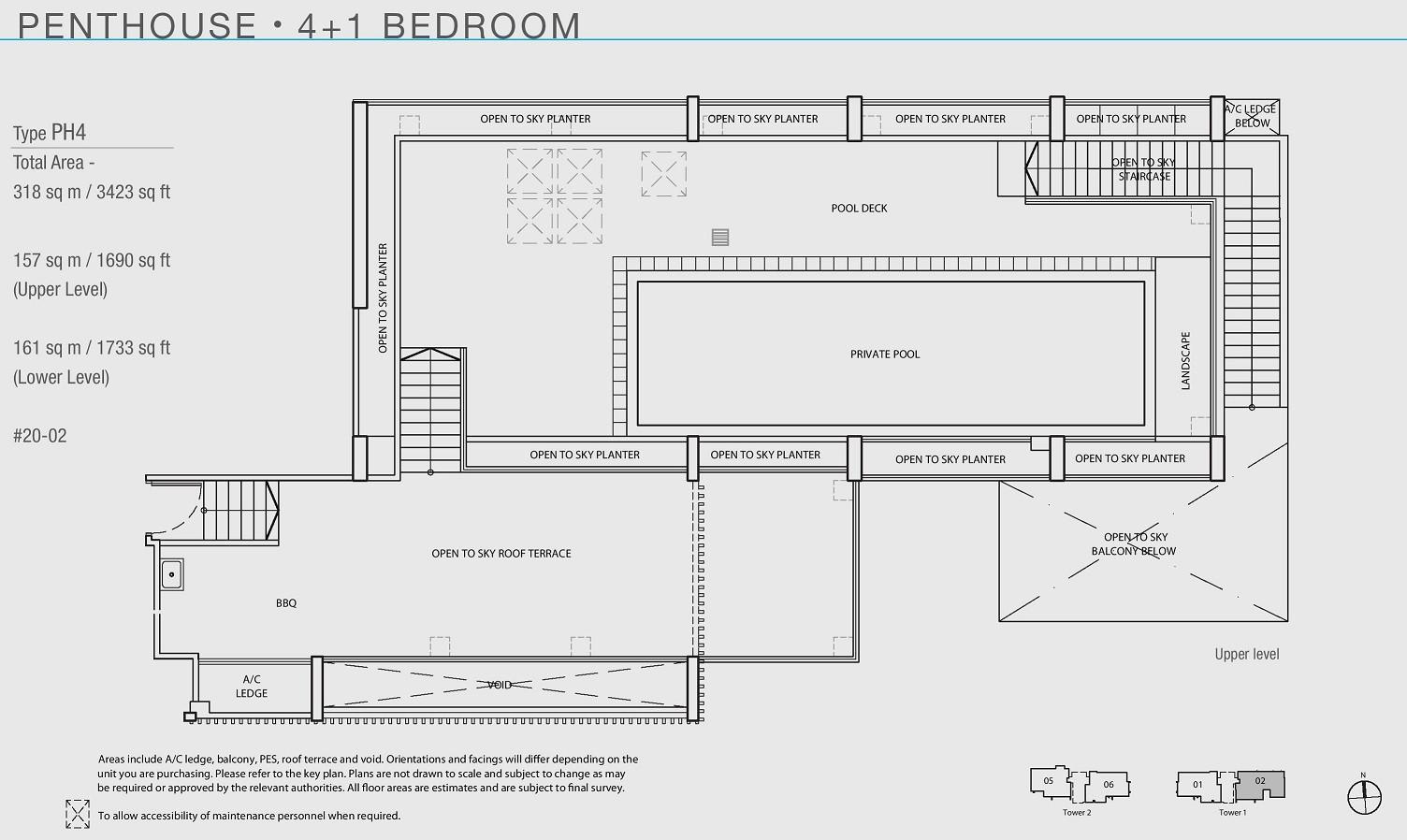 The Line _ Tanjong Rhu 4+1 Penthouse TyThe Line _ Tanjong Rhu 4+1 Penthouse Type PH4 (Upper Level)pe PH4 (Upper Level)