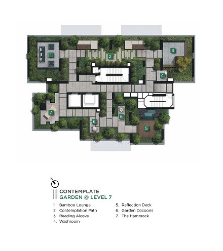 3 Cuscaden 6th Level Garden Side Plan