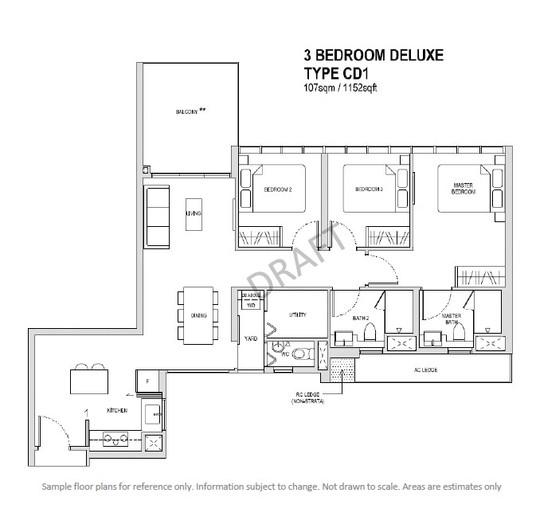 3 Bedroom Deluxe Type CD1
