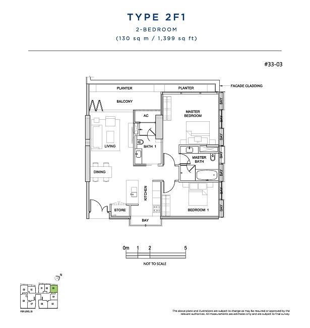 2 Bedroom Type 2F1