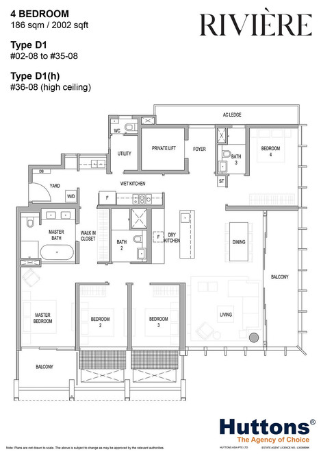 Riviere 4-Bed Type D1