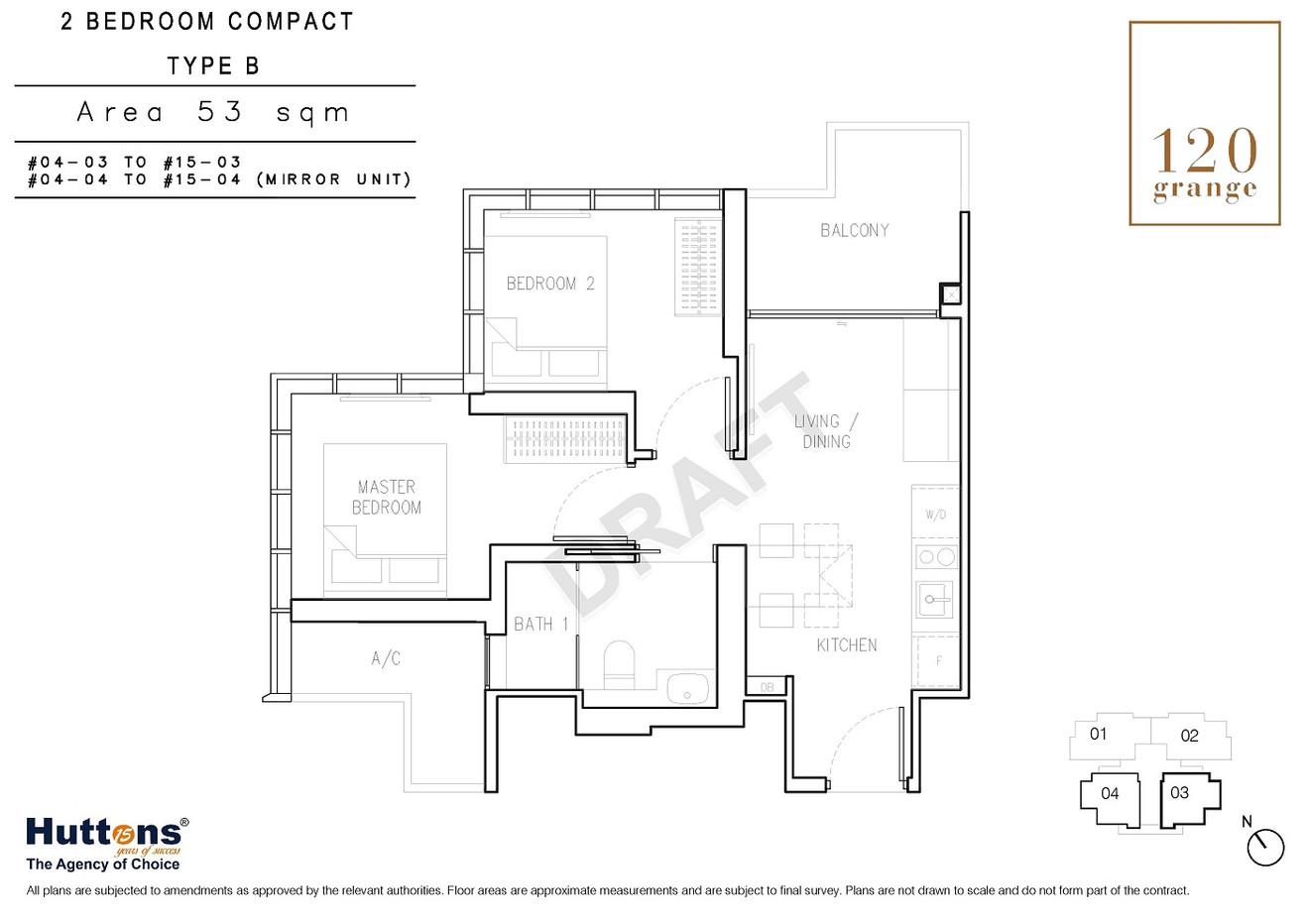 2 Bedrooms Compact Type B