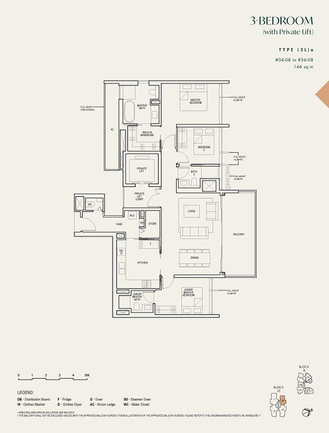 The Avenir 3-Bedroom with Private Lift