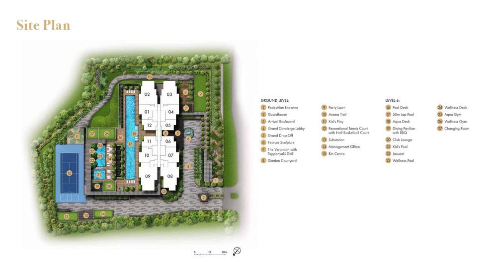 Pullman Residences Newton Site Plan