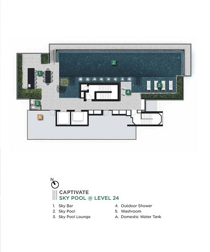 3 Cuscaden 24th Level Sky Pool Side Plan