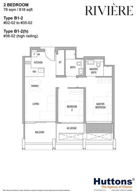 Riviere 2-Bed Type B1-2