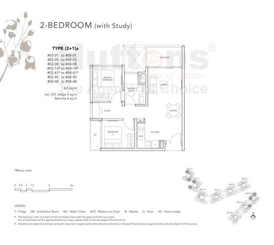The Jovell 2 Bedroom Study