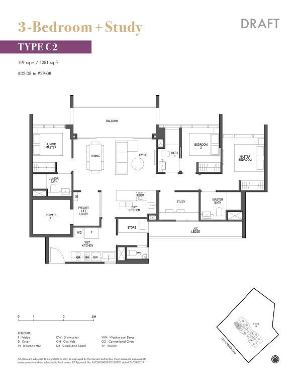 Pullman Residences Newton 3+S