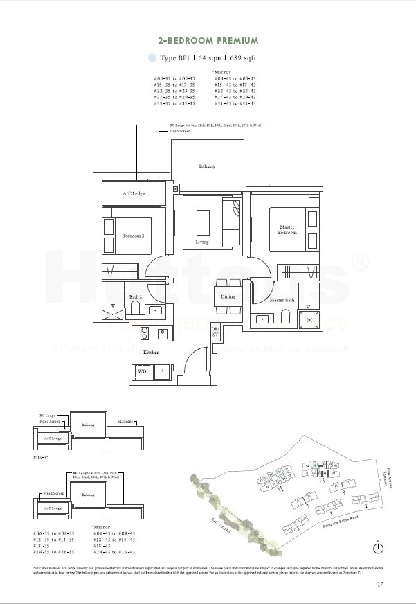2 Bedroom Premium 689sqft