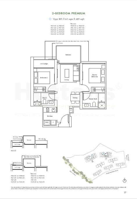 2 Bedroom Premium 689sqft