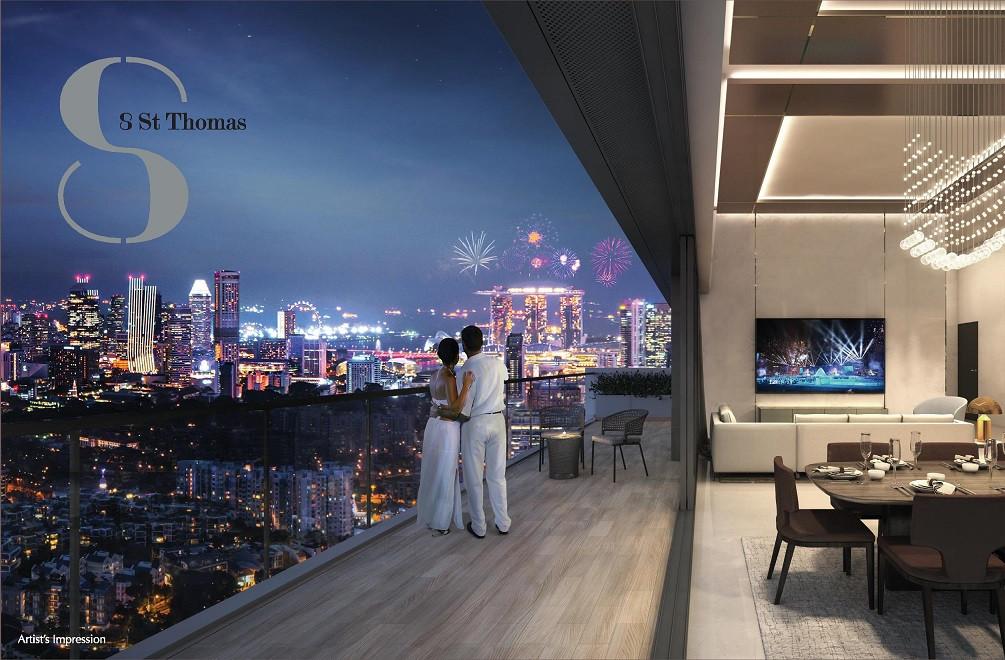 8St Thomas Penthouse floor plan #35-03
