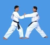 Two students showing 1 step sparring