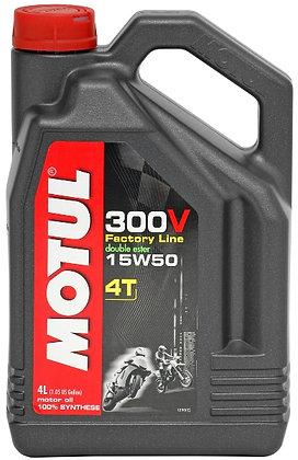 Motul 300V 15W50 4L Factory Line