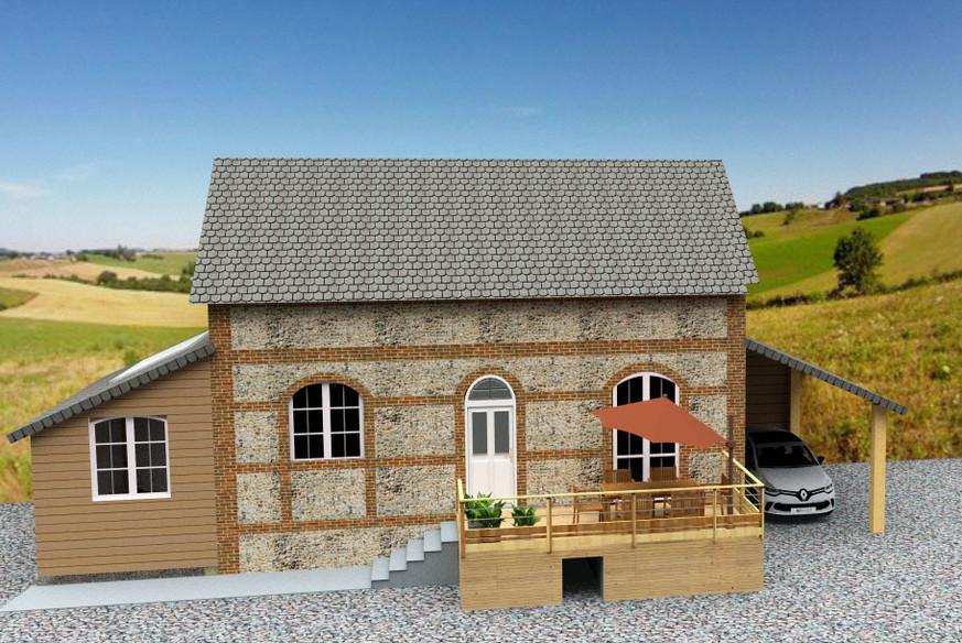 extension maison typique normande