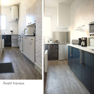 Avant / après cuisine studio 2