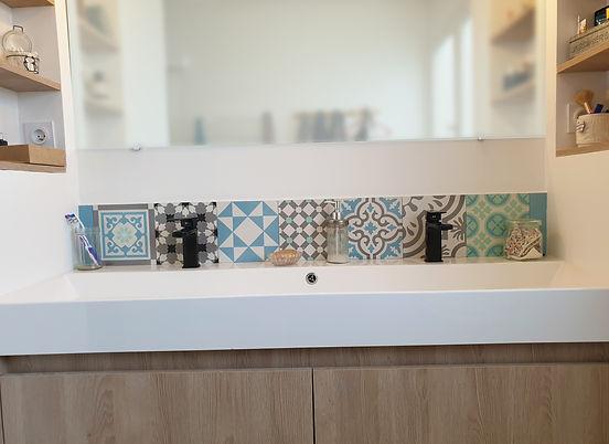 salle de bain carreaux de ciment leroy merlin bleu