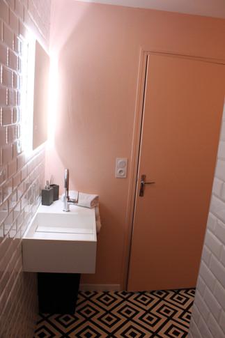 salle de bain sol motif
