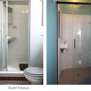 avant / après salle de douche