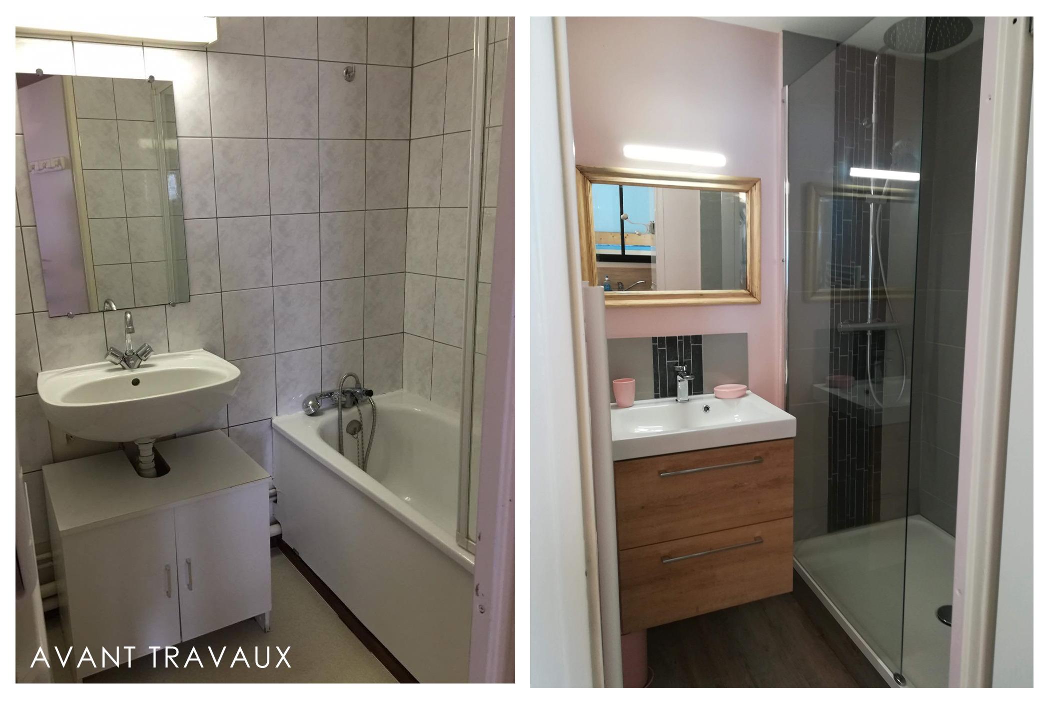 Avant après salle de bain