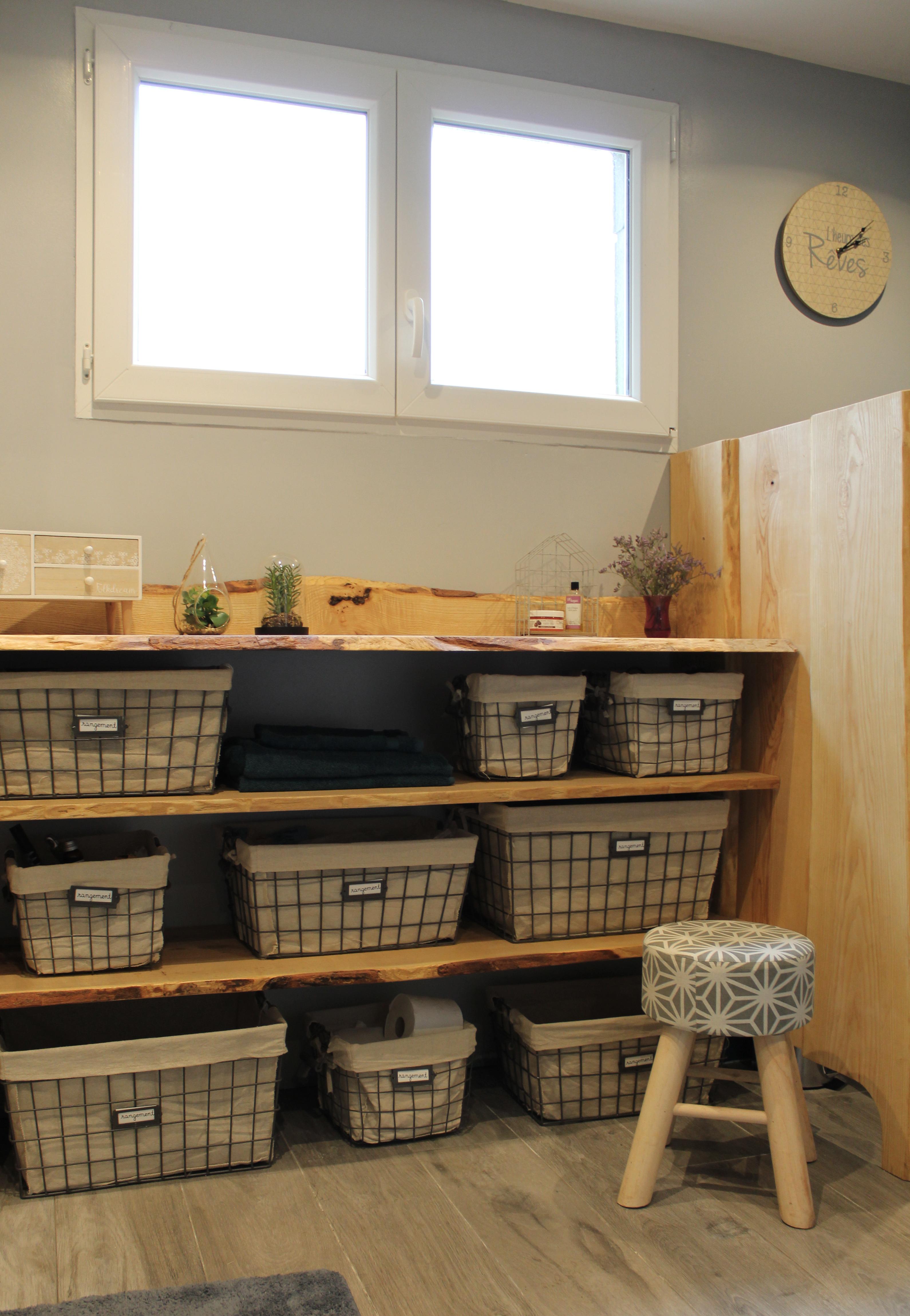 meuble sur mesure en bois brut