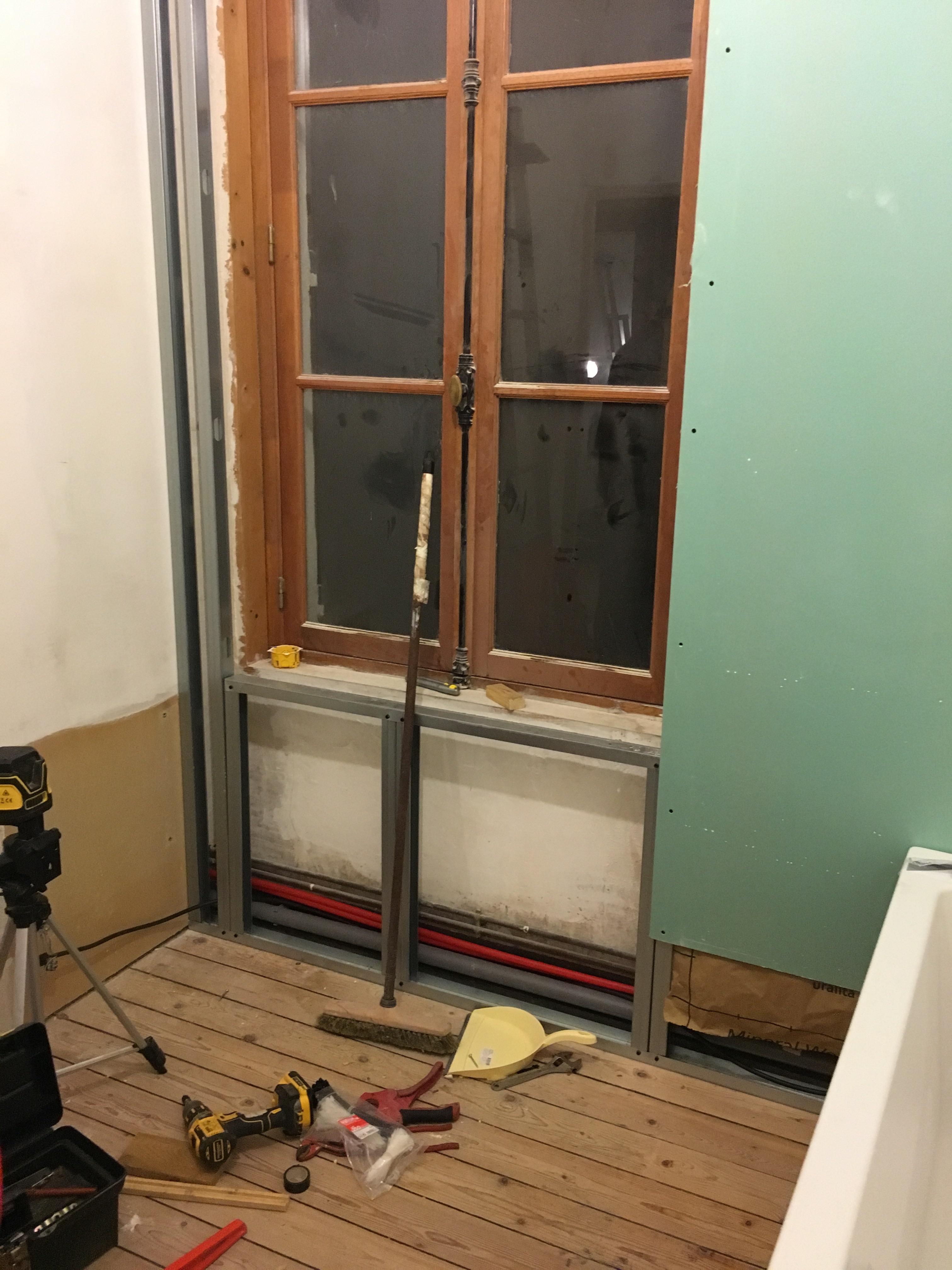 Isolaion du mur extérieur