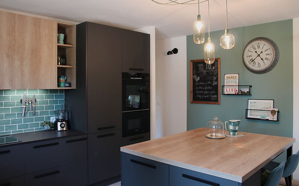 rénovation cuisine noir etbois fécamp 76400 nomandie