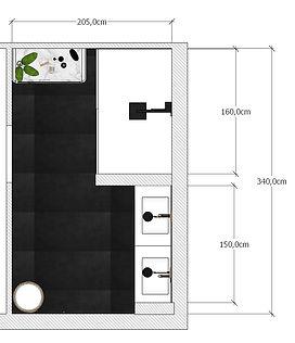 salle de bain plan 3D rénovation 76460